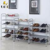 Umd 6 Tier Anti Rust Steel Shoe Rack Shoe Cabinet Storage Rack Js 417 Silver Color Lower Price