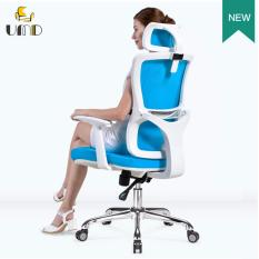 Umd Ergonomic High Back Mesh Office Chair Q52 White Blue Sale