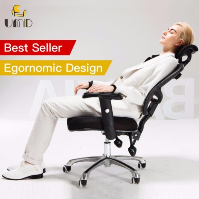 UMD Ergonomic Mesh High Back Office Chair Swivel/Tilt/Lumbar Support J24(Free Installation for purchase of 2 chairs & above) Singapore