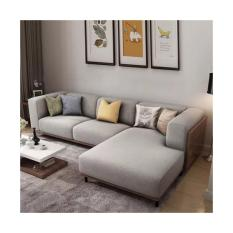 UMD 1515 L-shaped 5 seater fabric sofa with fully removable cover (Light Grey color)