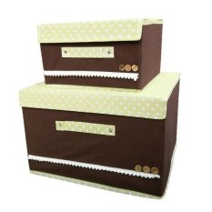 Underwear Storage Box Storage Boxes Of Clothing Order Box blue Brown - intl