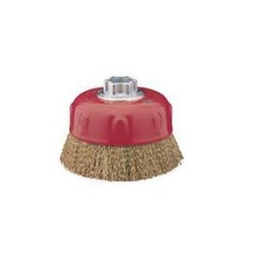Union Cup Brushes Brass Coated Steel Wire [M22.2 x 7/8 (5 / 125mm)]