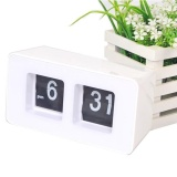Get Cheap Unique Retro Auto Flip Clock Cube Desk Table Wall Kitchen Simple Modern Design White Intl