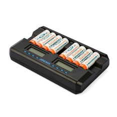 Buying Universal 8 Slot Smart Aa Aaa Nimh Rechargeable Batteries Lcd Charger Intl