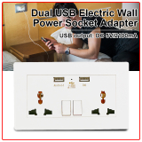 Best Buy Universal Dual 2 Usb Electric Wall Power Socket Outlet Adapter Plug Plate 2100Ma