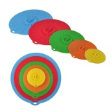 Retail Universal Silicone Cover 5 Sets Suction Lid Bowl Pan Cooking Pot Lid Stretch Lids Kitchen Tool Intl