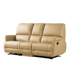 Univonna Javier 3-Seater Recliner Sofa - Beige color