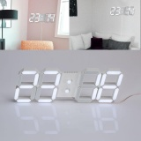 Usb 3D Modern Digital Led Home Wall Clock Timer 24 12 Hour Display Intl Compare Prices