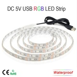 Usb 5V 5050 Rgb Led Flexible Strip Wateproof Light Intl Free Shipping