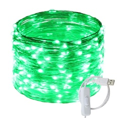 Buy Usb Led String Lights 200 Leds 66Ft 20M Waterproof Silver Wire String Lights With On Off Switch For Bedroom Patio Party Wedding Christmas Decorative Light Intl Er Chen