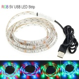 Compare Usb Led Strip Light Waterproof 5V Smd3528 Strip Light Rgb Flexible Strip Tv Background Decoration Lighting Strip Rgb Controller 3 5M Intl