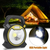 Price Comparisons Of Usb Rechargeable Cob Led Portable Flood Light Outdoor Garden Work Lamp Yellow Intl