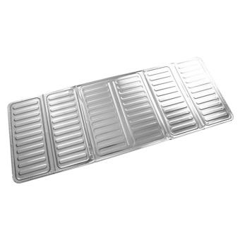 USTORE 84*32.5cm Kitchen Aluminum Foil Cooking Frying Pan Oil Splash Screen Cover silver