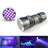 Best Deal Uv Ultra Violet 21 Led Flashlight Blacklight Aluminum Torch Light Lamp Intl