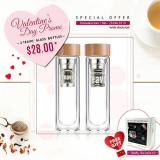Promo Valentine S Day Promo 2 Teavo 400Ml Glass Bottles With Strainer Free 2 Travel Tea Pack