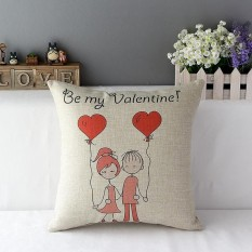 Valentines Lovers Couples Kiss Sweet Date Throw Pillow Case Decor Cushion Cover - Intl By Five Star Store.
