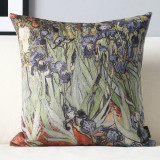 Sale Van Gogh Retro Cotton Linen Car Sofa Pillow Case Oem Wholesaler