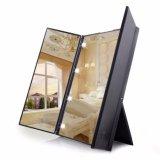 Vanity Folding Portable Travel Illuminated Make Up Desktop Mirror W 8 Led Light Oem Discount