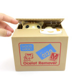 Wholesale Vanker Cat Stealing Coins Penny Buck Saving Money Box Pack Of One