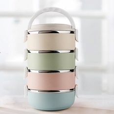 ad273ed048 VEECOME Portable 3/4 Layers Thermal Insulated Stainless Steel Lunch Box  Work School Picnic Bento