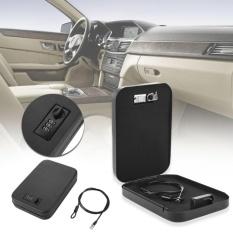 Vehicle-Mounted Safe Box Store Money Cash Portable Password Lock Secret Metal - intl