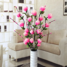 Vein Dried Flowers Living Room Landing Artificial Flowers Model Trunk Flower Arrangement Dried Flower Crimping Rose Household New House Decoration