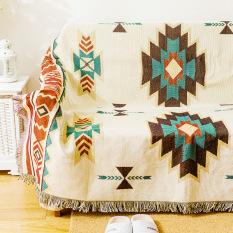 Price Compare Vendange American Country European Ikea Cool Retro Geometric Cotton Sofa Mat Living Room Carpet Blankets Sofa Towel