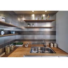 Sale Ver Block Peel And Stick Stainless Steel Diy Interior Kitchen Wall Tile Backsplash Bathroom Tiles 20Cm X 20Cm Pack Of 5 Brush Gray Intl Intl On South Korea