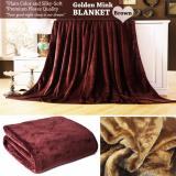 Compare Very Soft Plain Color Fleece Blankets Silky Touch And Golden Mink King Size Prices