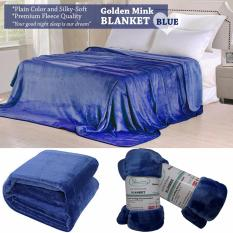Price Very Soft Plain Color Fleece Blankets Silky Touch And Golden Mink Queen Size Dream Comfort New