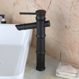 Vessel Bamboo Lavatory Faucets Tall Body Oil Rubbed Bronze Single Handle Vanity Lavatory Mixer Tap Single Hole Lavatory Faucets Bathroom Sink Faucet Lowest Price