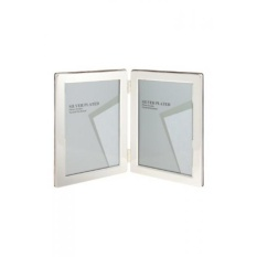 Best Offer Viceni Silver Plated Double Aperture Picture Photo Frame 5 By 7 Inch Intl