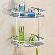 Sales Price Victory Aluminum Bathroom Shelves Toilet A Tripod Double Storage Wall Hanging Intl