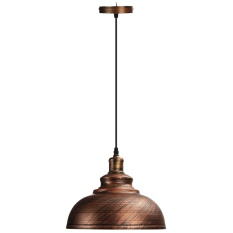 Vintage Ceiling Light Retro Pendant Lamp Industrial Loft Iron Chandelier Fixture Bronze - intl