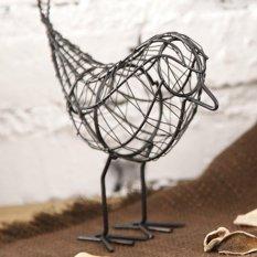 Vintage Chic Craft Metal Wire Bird Ornament Model Desktop Home Decor Gifts New - intl