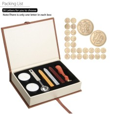 Purchase Vintage Initial Letters L Alphabet Wax Badge Seal Stamp Kit Wax Set Tool Gift Intl Online