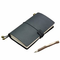 Buy Vintage Leather Traveler Notebook Refillable Reusable Journals Diary Notepad Cover With 3 Paper Inserts Black Intl China
