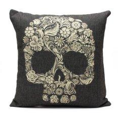 Vintage Retro Home Decor Skull Waist Cotton Linen Throw Pillow Sofa Cover Case By Five Star Store.