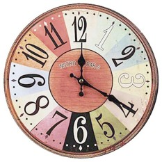 Buy Vintage Shabby Chic Style 34Cm Wall Clock Wood Home Bedroom Retro Kitchen Quartz Pattern Nstro Pars Intl Online China