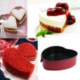 Purchase Voogol Cake Pan 7 Inch Non Stick Springform Pan Heart Shaped Cake Pan Cheesecake Pan Baking Tools Red Online