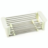 Where Can You Buy Vorstek Telescopic Kitchen Sink Dish Rack Insert Countertop Storage Organizer Tray Stainless Steel Folding Single Shelves White Intl