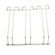 Cheapest Vorstek Under Cabinet Storage Organizer Stainless Steel Glass Holder Stemware Racks Wall Mount Wine Rack Three Rows Intl