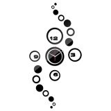 Wholesale Wall Clock 3D Diy Circle Pattern Stickers Hour Modern Mirror Design Art Watches Intl