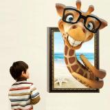 Buy Wall Decal 3D Mural A Corner Of Giraffe Removable Wall Stickers 60 X 90Cm Intl Online