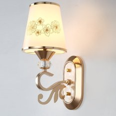 Wall Lamps Modern Simple Single/Double Head Lights 7W LED Light Source Lamp Fixtures Metal Glass Wall Lamp Bedroom Bedside Lights Creative Living Room Aisle Wall Lights - intl