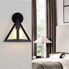 Wall Light Simple Creative Black Warm Light Single-headed Wall Lamp Led Restaurant Balcony Study Hall Aisle Corridor Bedside Lamp Is Simple but Beautiful , A - intl