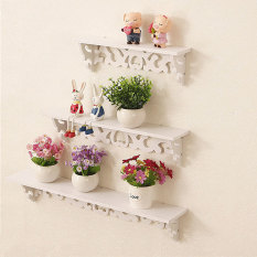 Review Wall Shelf Shabby Chic Filigree Style Shelves Cut Out Design Home White Set Of 3 Hotrose On Singapore