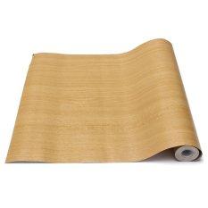 Wall Wood Grain Mural Decal Self Adhesive PVC Wallpaper Film Sticker Decor 10M Beige - intl