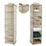 Wardrobe Hanging Storage 6 Section Clothes Garment Organiser Shoe Stand Intl Best Buy