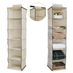 How To Get Wardrobe Hanging Storage 6 Section Clothes Garment Organiser Shoe Stand Intl
